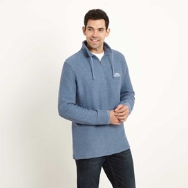 Cruiser Classic ¼ Zip Macaroni Sweatshirt Washed Blue