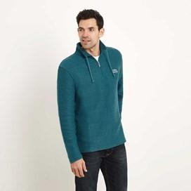 Cruiser 1/4 Zip Classic Macaroni Sweatshirt Dark Jade