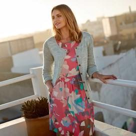 Minnihaha Printed Lightweight Dress Hot Pink