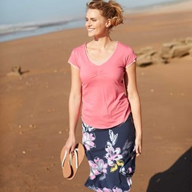 Malmo Printed Jersey Skirt Indigo