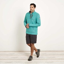 Thor 1/4 Zip Technical Macaroni Sweatshirt Light Teal
