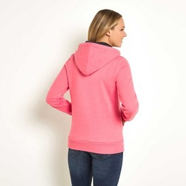 Polly Full Zip Applique Hoodie Hot Pink