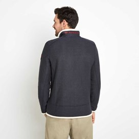 Boyne Full Zip Lined Macaroni Sweatshirt Dark Navy