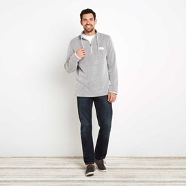 Bryn 1/4 Zip Birdseye Sweatshirt Soft Grey