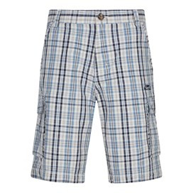 Barley Checked Casual Cotton Short Washed Black