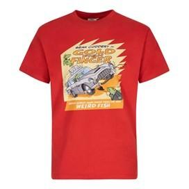 Gold Fish Finger Artist T-Shirt Dark Red