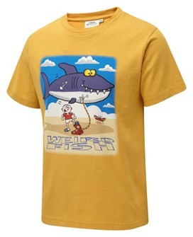 Shark Inflatable Artist T-Shirt Old Gold