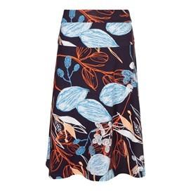 Malmo Printed Jersey Skirt Coal