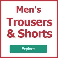 Explore men's trousers
