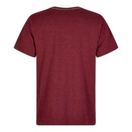 Fiddle Cornelli Stitch T-Shirt Dark Wine Marl