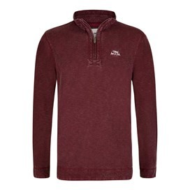 Meuli 1/4 Zip Pique Sweatshirt Dark Wine