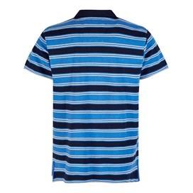Galileo Striped Polo Shirt Dark Navy