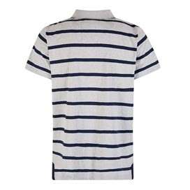 Kinsey Striped Polo Shirt Grey Marl