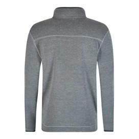 Talas Plain 1/4 Zip Soft Knit Fleece Top Petrol Blue