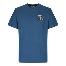 Motorpike & Sidecarp Artist T-Shirt Ensign Blue