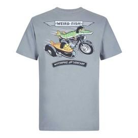 Motorpike & Sidecarp Artist T-Shirt Grey Blue