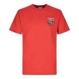 Motorpike & Sidecarp Artist T-Shirt Dark Red