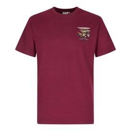 Motorpike & Sidecarp Artist T-Shirt Dark Wine