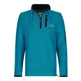 Parkway 1/4 Zip Technical Macaroni Sweatshirt Blue Jay