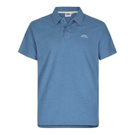 Andy Embroidered Logo Jersey Polo Shirt Ensign Blue Marl