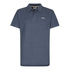 Andy Embroidered Logo Jersey Polo Shirt Blueberry Marl