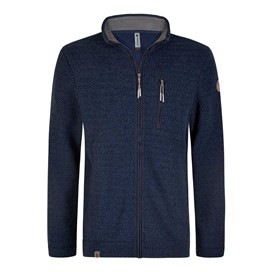 Alfie Full Zip Technical Popcorn Fleece Top Blueberry