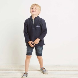 Texas Boy's 1/4 Zip Macaroni Navy