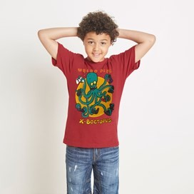 Heritage Surf Graphic Print T-Shirt Barberry Red Marl