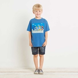 Beach Huts Artist T-Shirt Blue
