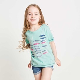 Reef Graphic Print T-Shirt Aqua