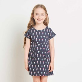 Tally Ho AOP Jersey Dress Navy