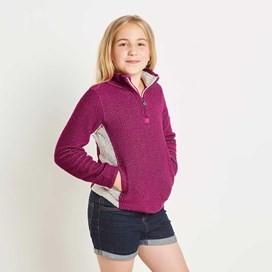 Emmanuel 1/4 Zip Active Macaroni Sweatshirt Dark Raspberry