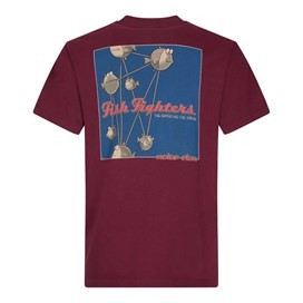 Fish Fighters Artist T-Shirt Dark Wine