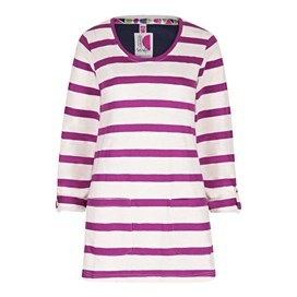 Bollywood Cotton Slub Stripe Long Sleeve T-Shirt Sloeberry
