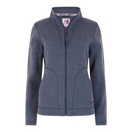 Galata Soft Knit Full Zip Fleece Top Dark Navy