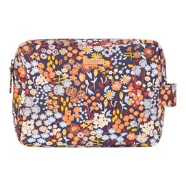 Janis Printed Wash Bag Brick Red