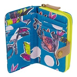 Tom Tom Printed Cotton Purse Blue Jay