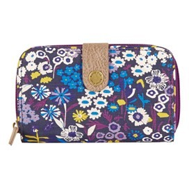 Tom Tom Printed Cotton Purse Indigo