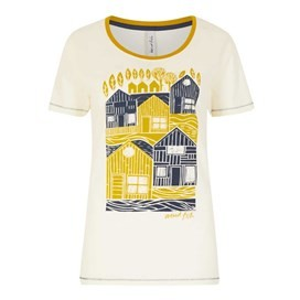 Orion Graphic Print T-Shirt Light Cream