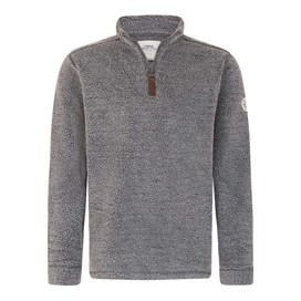 Bjorn 1/4 Zip Borg Fleece Top Flint Stone