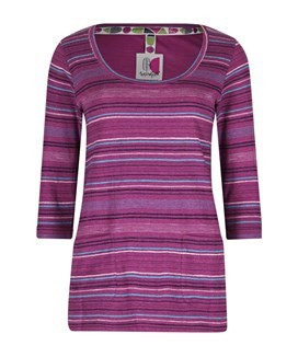 Paloma Fancy Stripe T-Shirt Sloeberry
