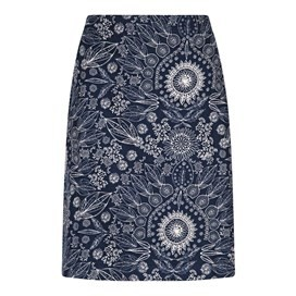 Babette Printed Cord Skirt Dark Navy