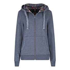 Taloga Print Lined Full Zip Hoodie Dark Navy