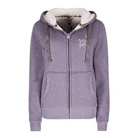 Maisie Plush Fur Lined Hoodie Dewberry
