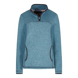 Jessie 1/4 Zip Soft Knit Fleece Top Bluebird
