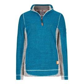 Emma 1/4 Zip Active Macaroni Sweatshirt Blue Jay