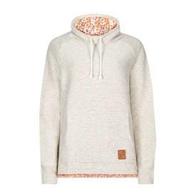 Nuray Print Trim Classic Macaroni Popover Sweatshirt Ecru