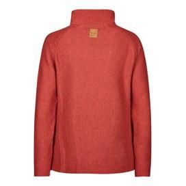 Constantine Print Trim 1/4 Zip Classic Macaroni Sweatshirt Paprika
