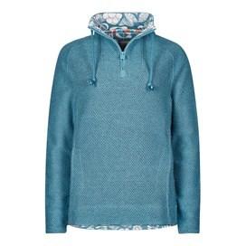Constantine Print Trim 1/4 Zip Classic Macaroni Sweatshirt Bluebird