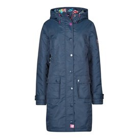 Amadeo Print Lined Waterproof Jacket Dark Navy